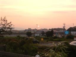 戸島教室から見る夕陽