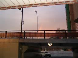 代継橋と虹