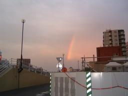 代継橋を越えて虹を見る
