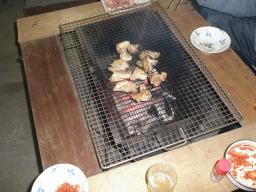 いい感じに焼ける鶏肉