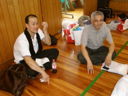 サカイ選手とニシバシさん