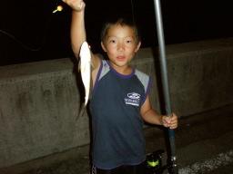 ユウキ、グチを釣る