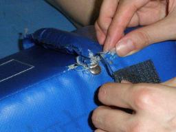 セパレートミットを縫う