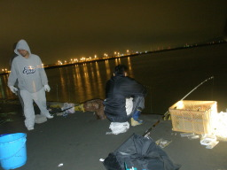 熊本新港の夜景と井上雄一朗