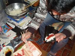 手巻き寿司を作る