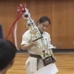 千葉真一杯のトロフィーはデカかった-第3回西日本武道空手道交流大会
