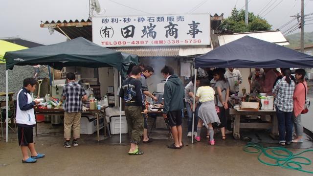 前半雨の2015田端商事バーベキュー