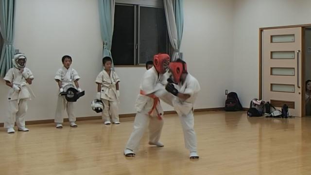 組手練習中1