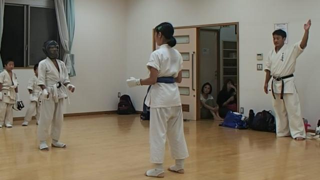 組手練習中3